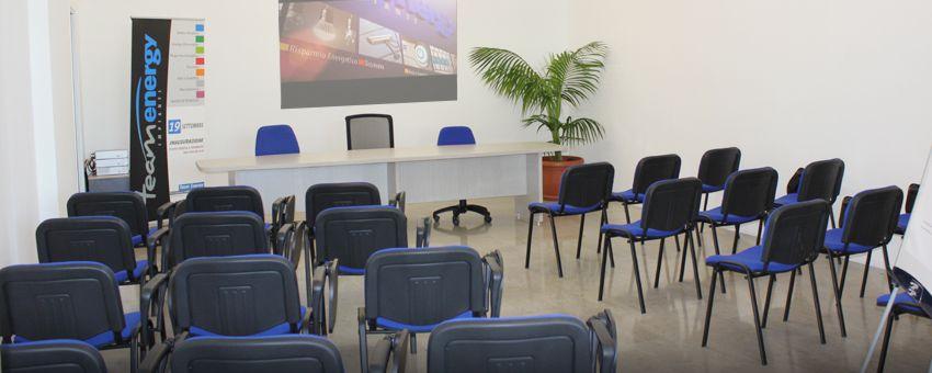 teamenergy, sala corsi e riunioni